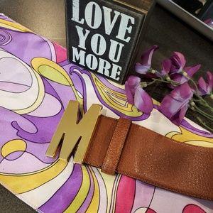 Moschino Wide leather belt